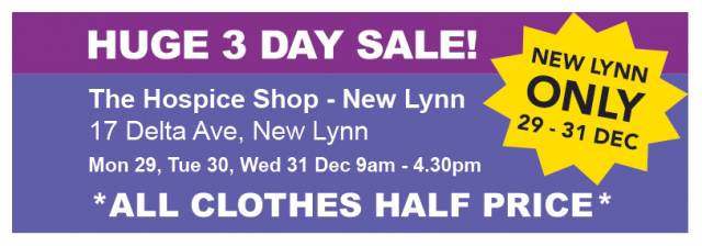 Hospice Shop Holiday Opening Hours | Hospice West Auckland
